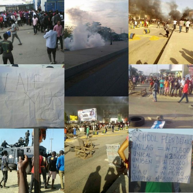 BREAKING NEWS ; UNIPORT STUDENTS PROTEST