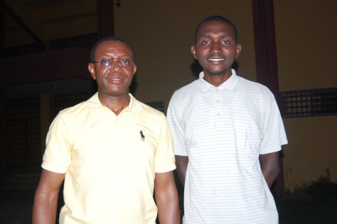 Dr Nathaniel Usoro and Dede Oputamuno Gilbert after the interview