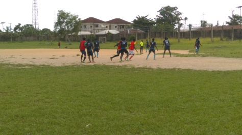 Okoi Godspower (Premed) taking a free kick