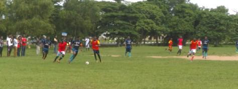 Team Captain.Oshie Emmanuel(Premed)in pursuit if Etteudo Ofofom (C2B)