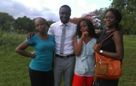 Emmanuel Idoko(C2A) and Preclinical class Students