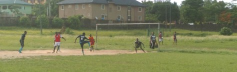 Iregbu Jude with another chance In front of Goal....