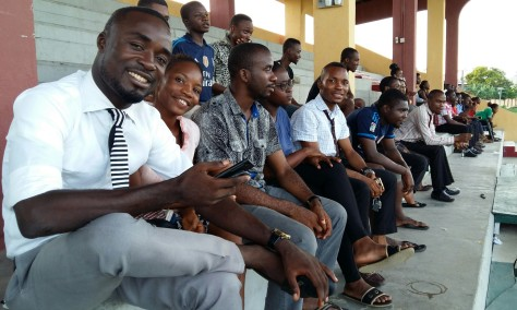 Cross section of spectators, NAAKIMS UCC President ( first row 5th from Left)