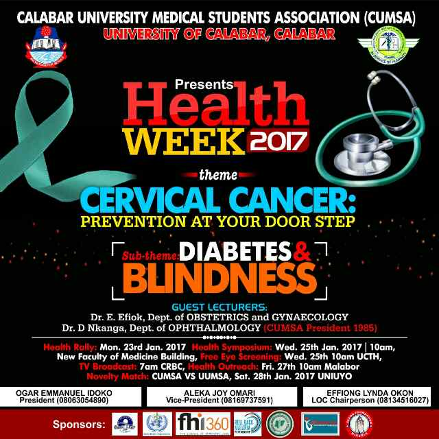 SPONSORED POST: #CUMSAHEALTHWEEK2017