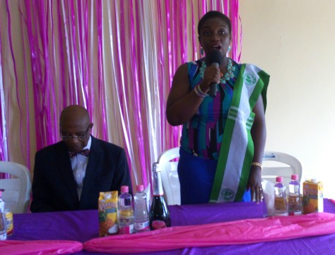 Dr Ani Nchewi representing the commissioner of Health at the event.
