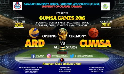 CUMSA GAMES 2016 official banner