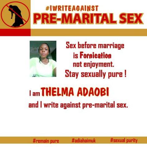 #iwrite againstpremaritalsex
