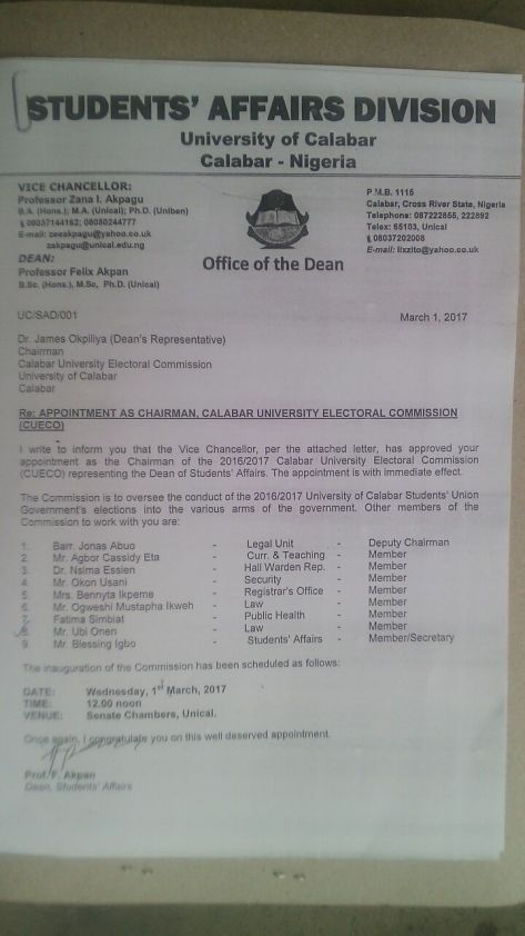 Calabar University Electoral Commission