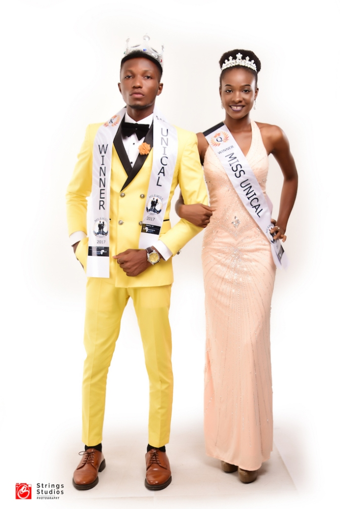 MR and MISS UNICAL 2017 WINNERS OFFER CHARITY TO CHILDREN.